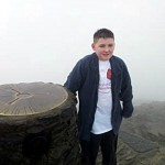 Jake at the top of Snowdon!